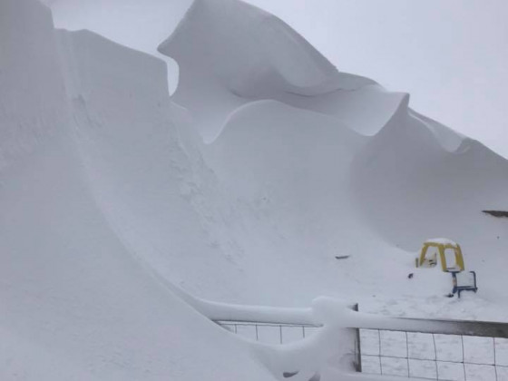 20' snow drift yesterday
