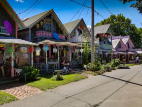 Gingerbread houses in Martha's Vineyard, Massachusetts.