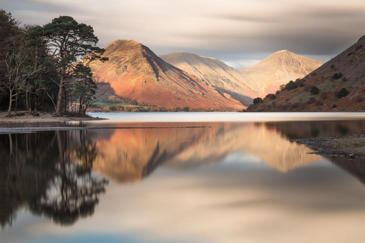 A beautiful calm scene at Wast Water, Cumbria.