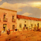 Typical commercial and housing in the colonial times