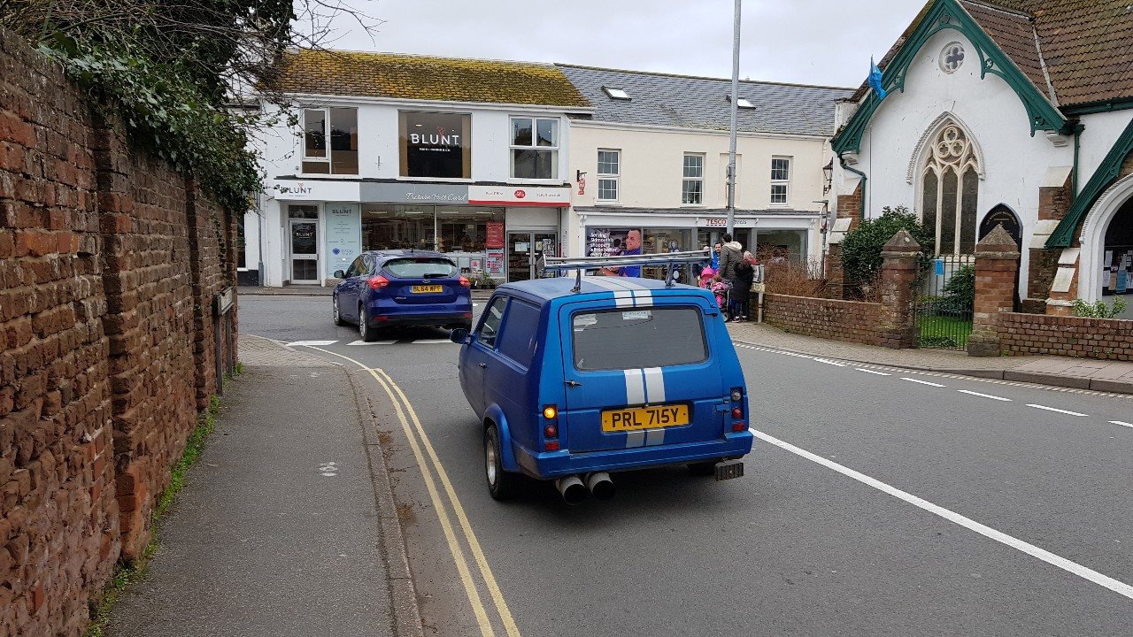 Maxed out Reliant Robin spotted in Sidmouth UK