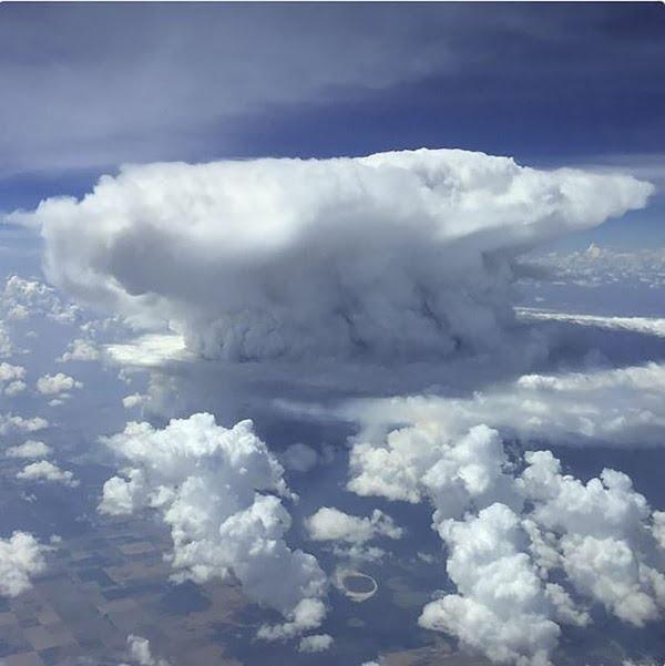 Cumulus nimbus over La Pampa