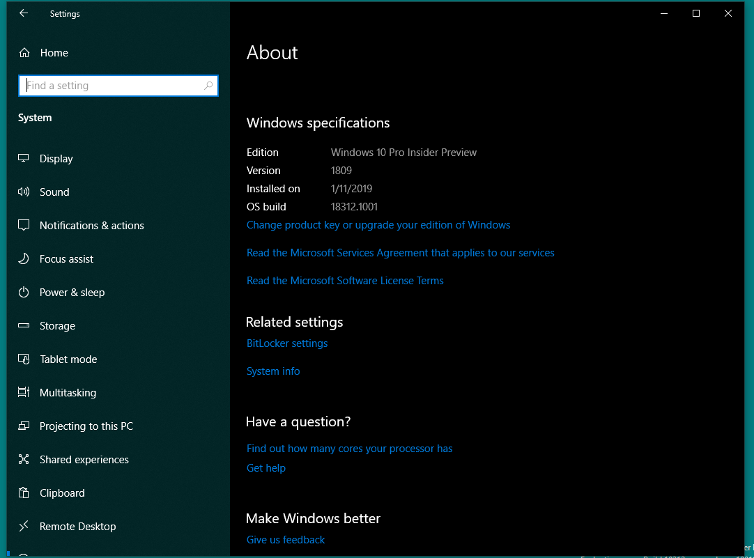W10 Preview Build v18312 - Tech Articles - Argentina Expats Forum