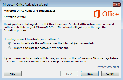 Activating Microsoft Office by phone - Tech Questions and Hints